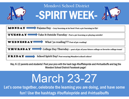 Virtual Spirit Week Calendar