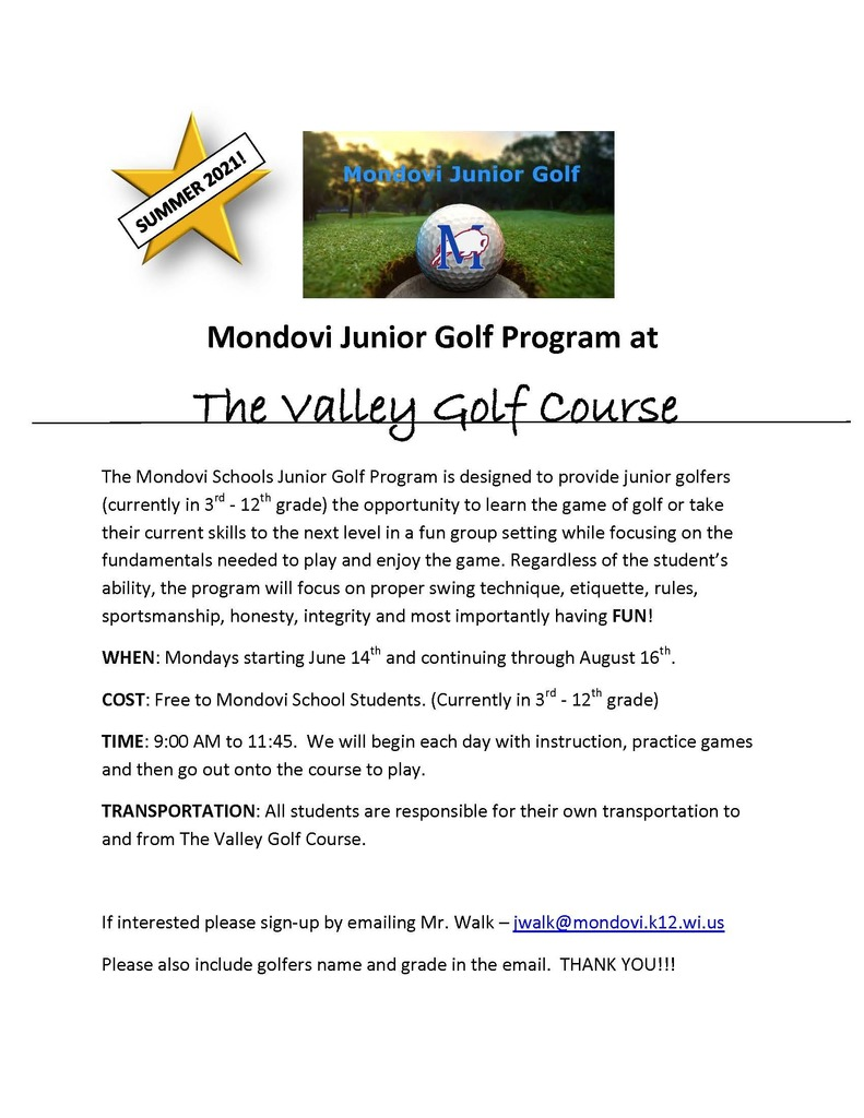 Junior Golf Flyer