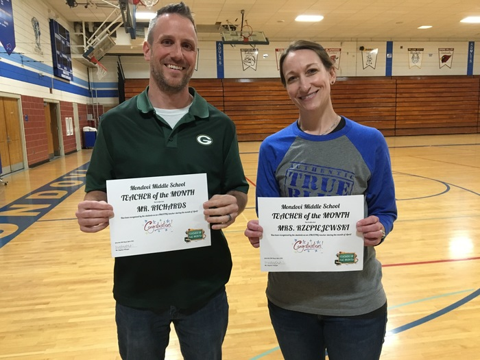 Teachers of the Month - April