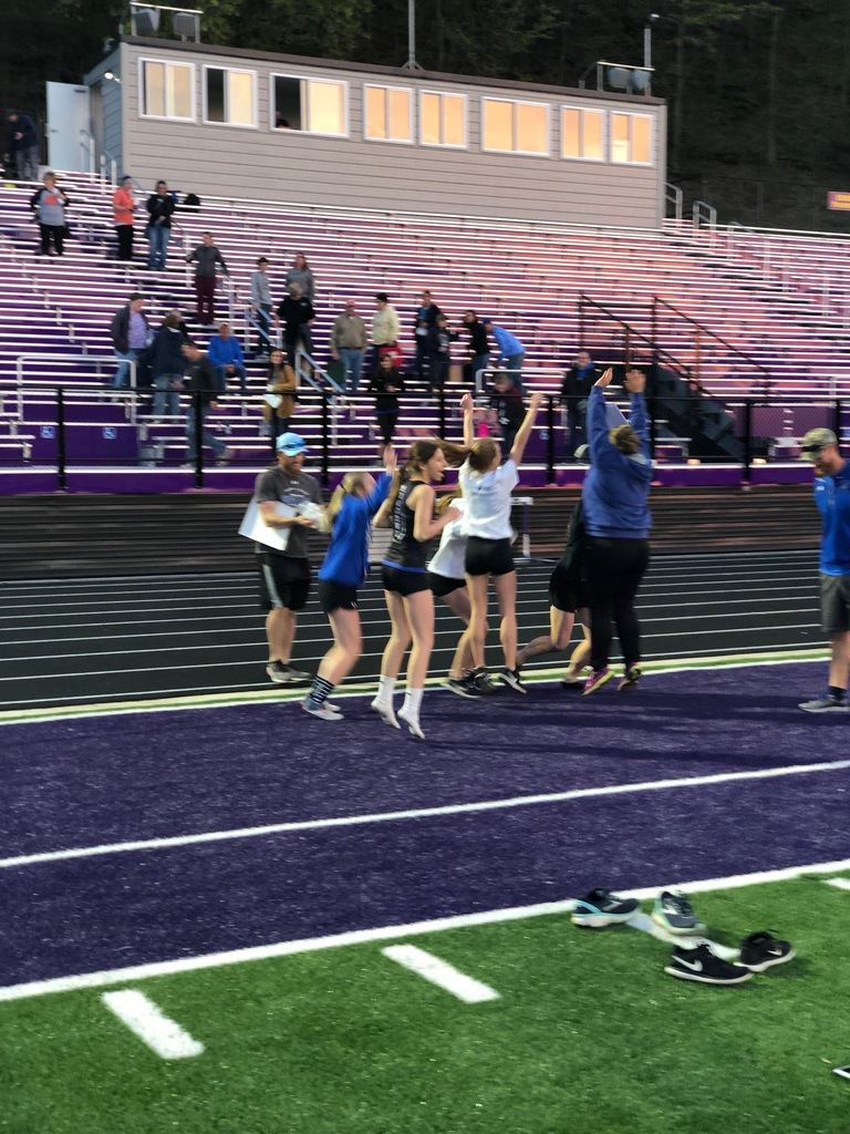 Track Girls Celebrating