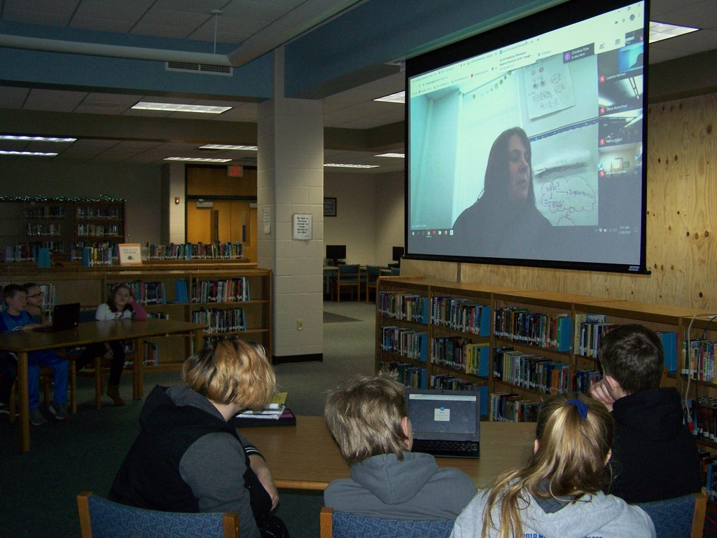 Via Google Hangout and Nearpod app