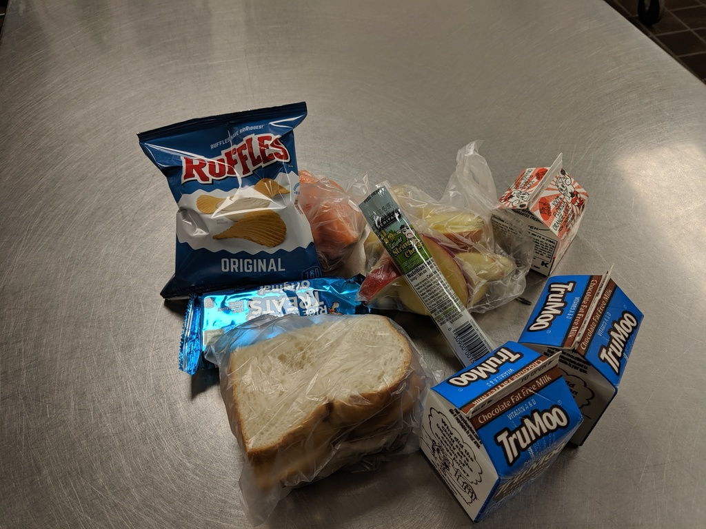 Sample of food items that might be included in the meal.