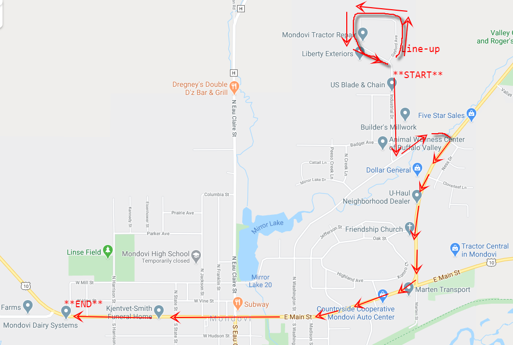 Extended Parade Route